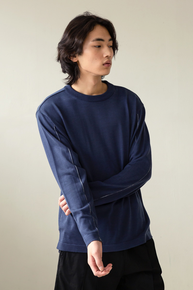 STITCHED MINIMAL KNIT (DARK BLUE)