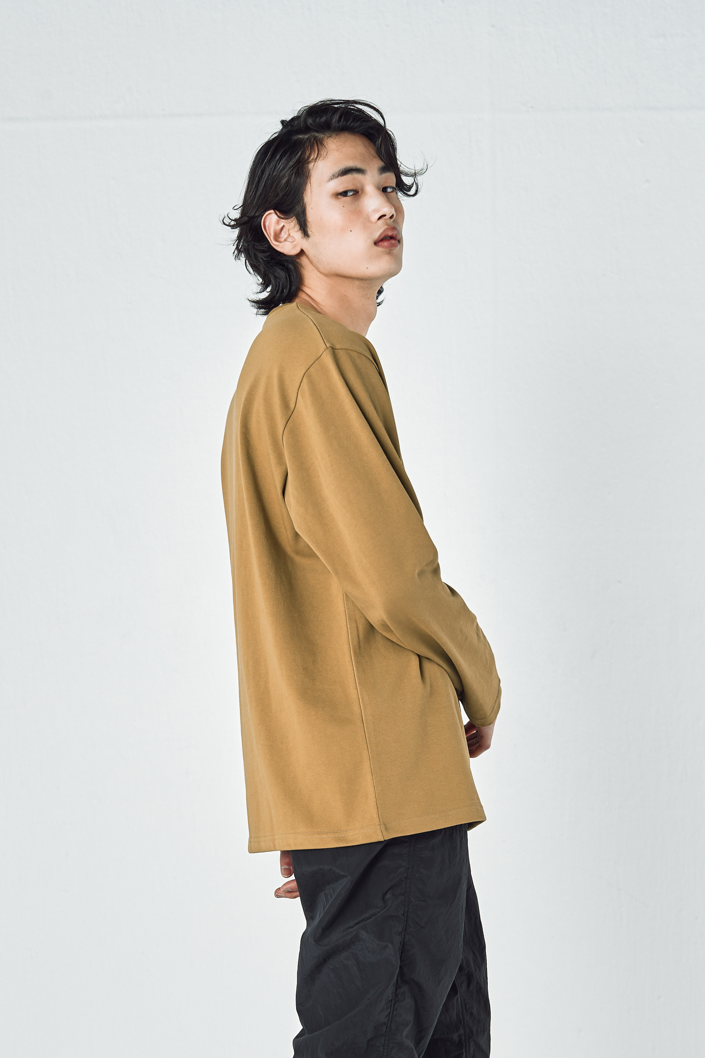 247 MINIMAL LONG SLEEVES (YELLOW KHAKI)
