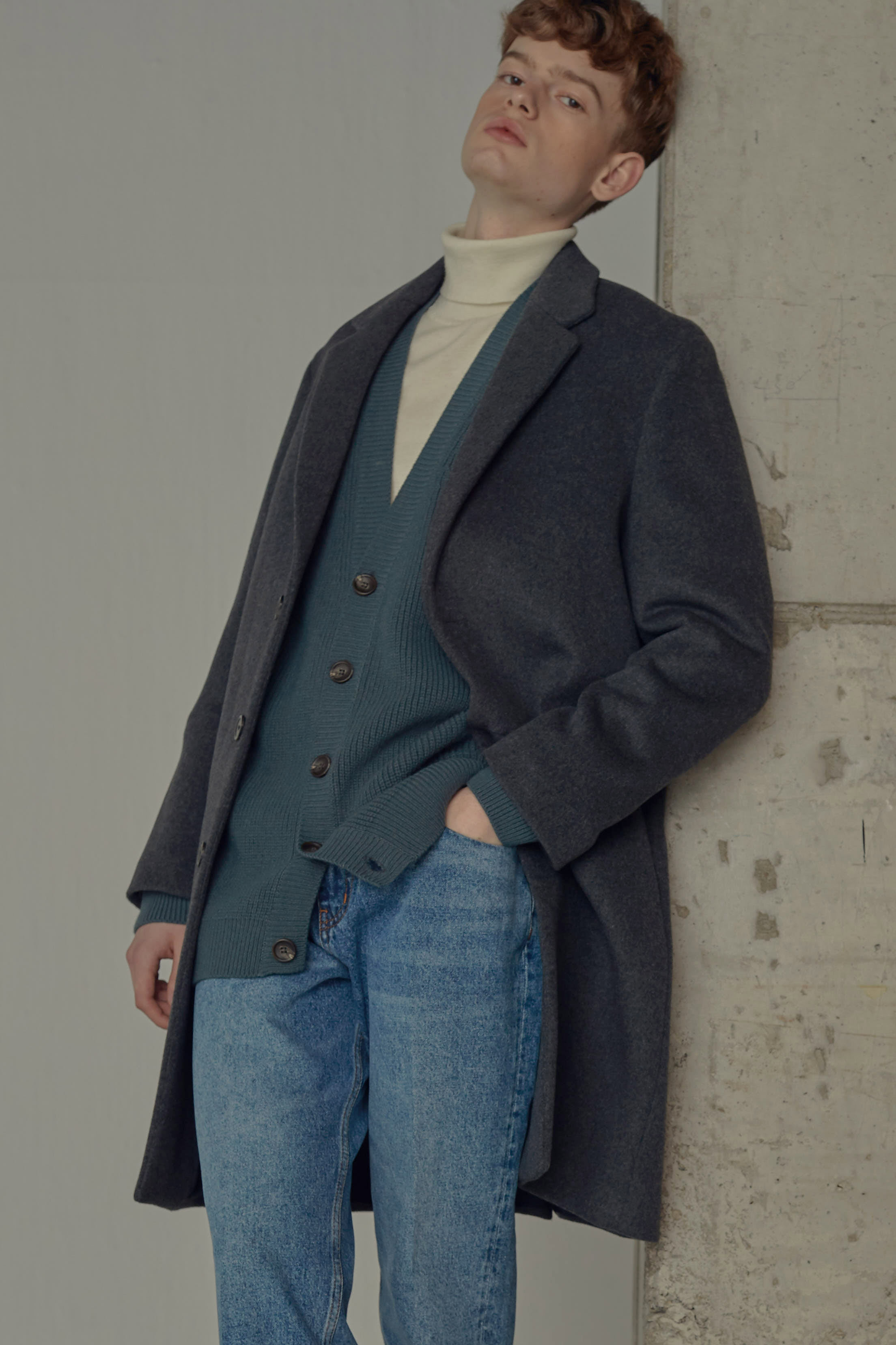5차 재입고 완료2019 THE EASY COAT (CHARCOAL, cashmere blended)