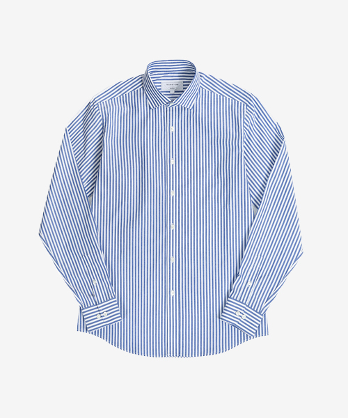 STRIPE WS (1:1 navy pattern, poplin)