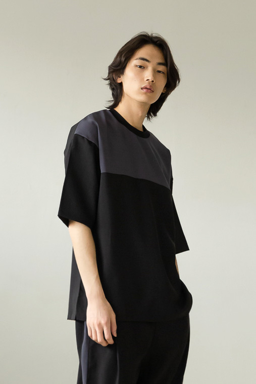 [TAN] POLINEN OVERSIZED T-SHIRT (charcoal chest)