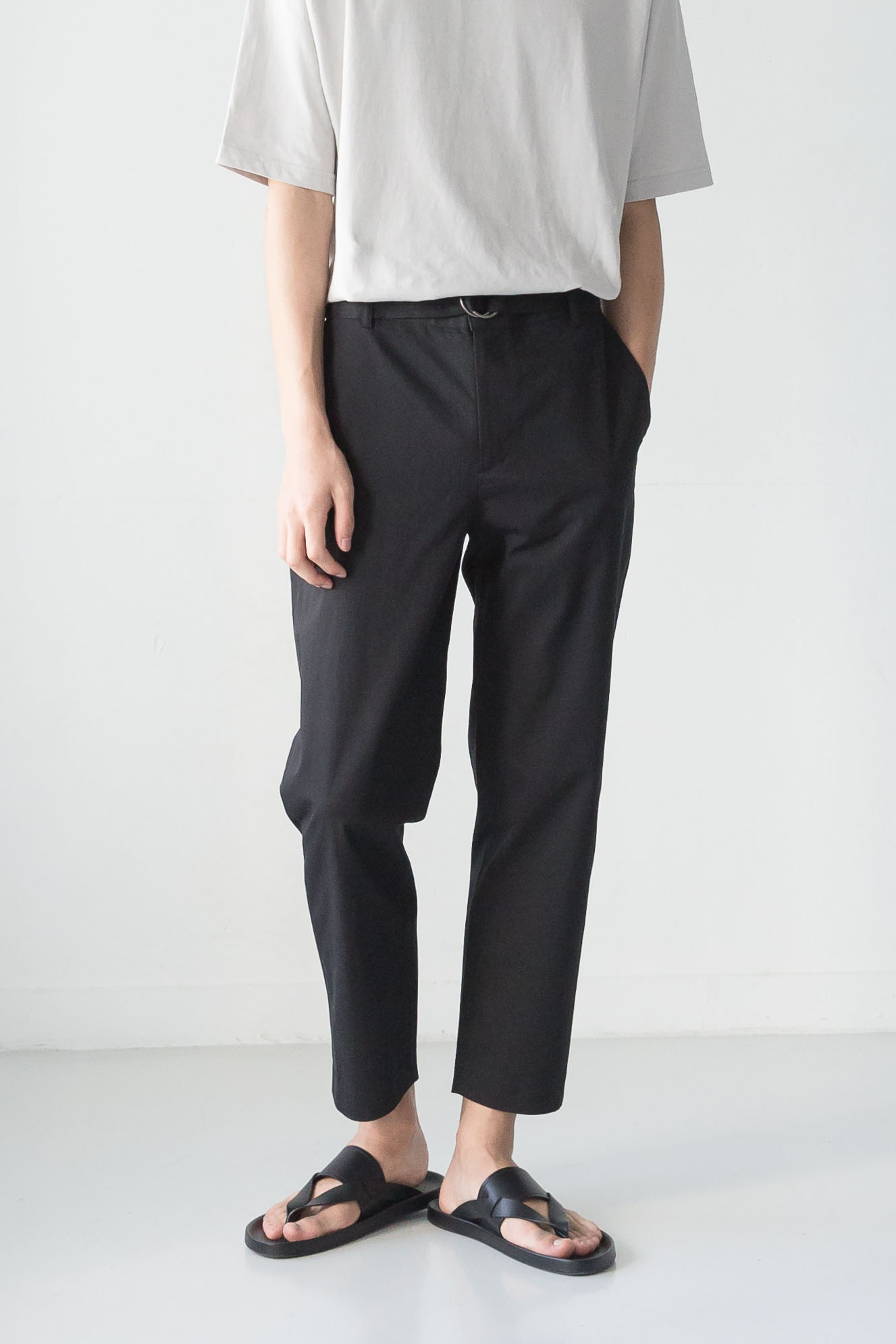 DAILY PANTS (ring belt, 3 colors)