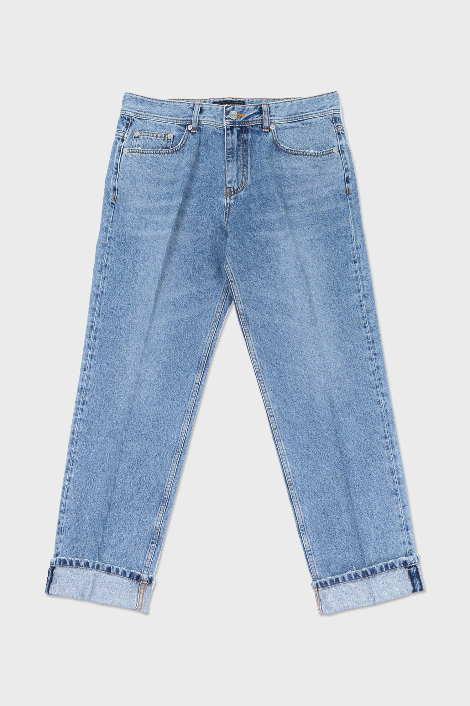 easygoing creased jeans (flour blue)