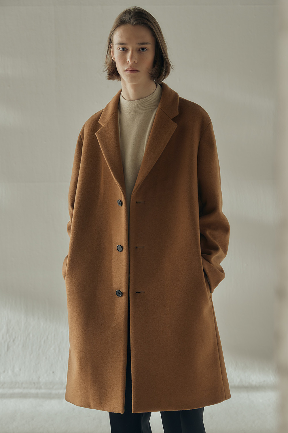 2020 EASY COAT (CAMEL, CASHMERE BLENDED)