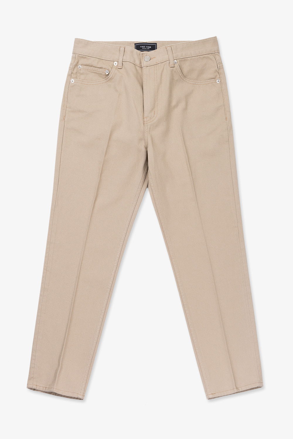 EASYGOING CROP PANTS (BEIGE)